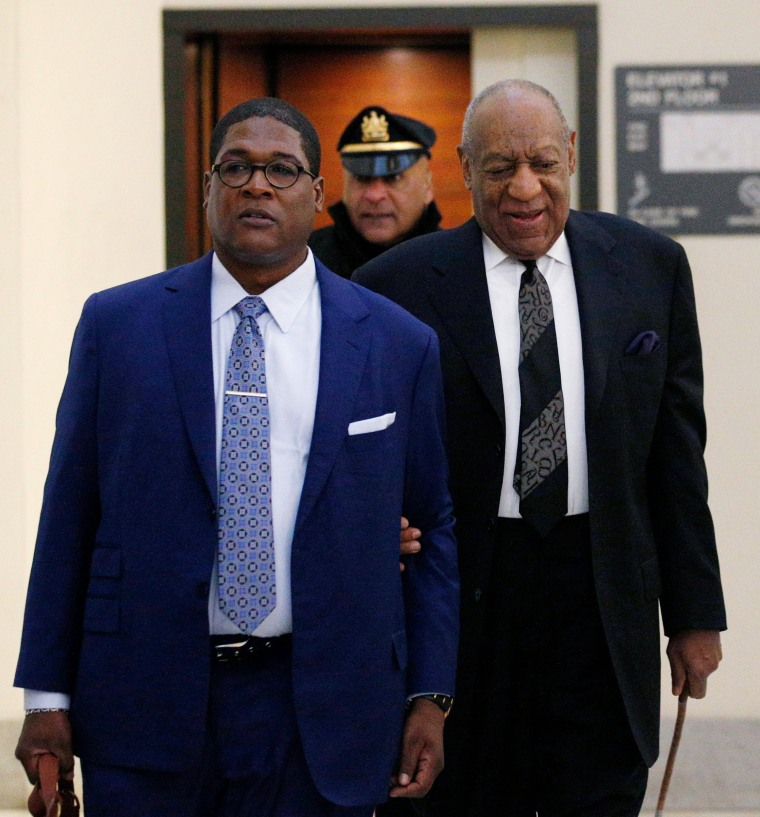 Image: Bill Cosby arrives with publicist Andrew Wyatt