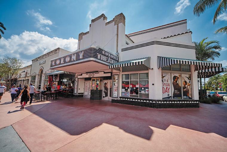 Colony Theater at Lincoln Road. (Miami,Florida)