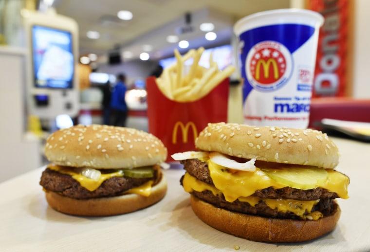 Image: McDonald's fresh beef burgers