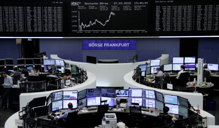 Image: The German share price index, DAX board, is seen at the stock exchange in Frankfurt