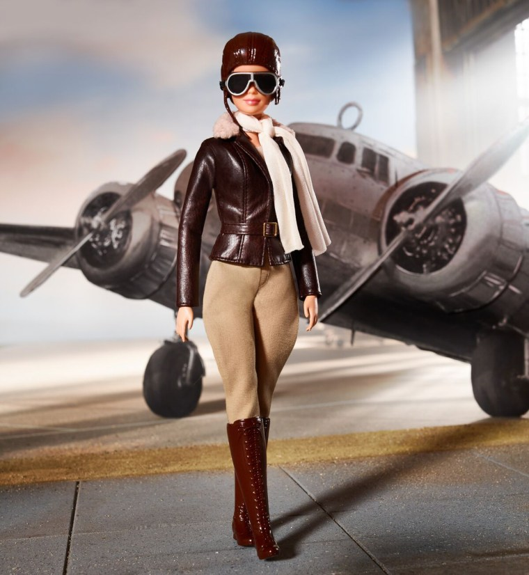 Image: Barbie created a doll of pioneering aviator Amelia Earhart