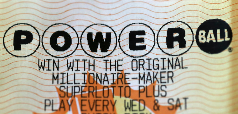 Image: A Powerball lottery ticket.
