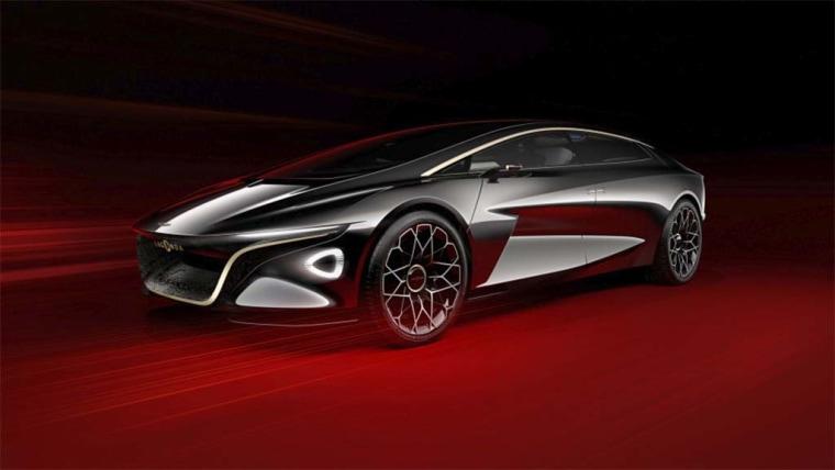 Aston Martin hinted its reborn Lagonda brand will offer only zero-emissions vehicles.