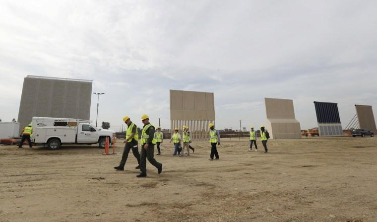 Image: Border wall prototypes