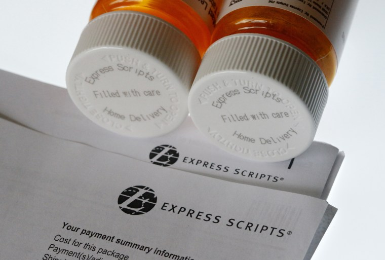 Image: Express Scripts prescription medication bottles in Surfside, Florida