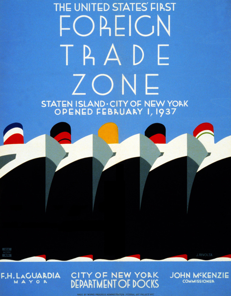 Image: United States first foreign trade zone poster