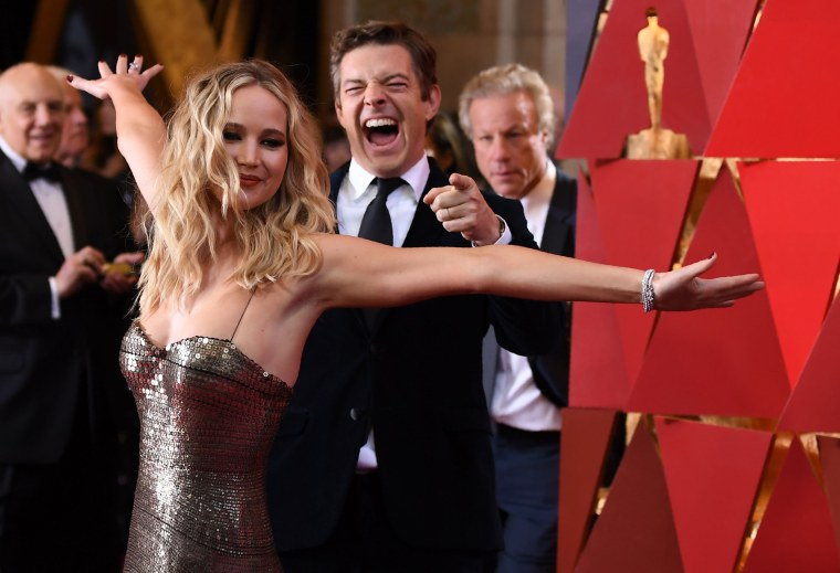 Image: Jennifer Lawrence arrives for the 90th Annual Academy Awards