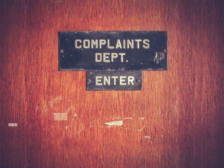 Image: Retro Grunge Complaints Dept Door