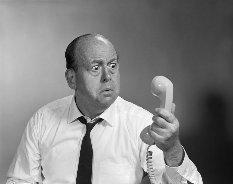 Image: 1960s Balding Man Looking...