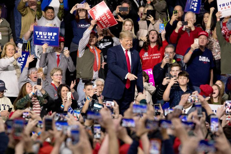 Image: President Trump walks on stage