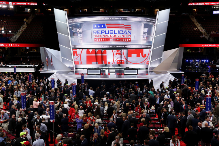 Image: The Republican National Convention stage