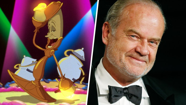 Kelsey Grammer and Lumiere from Beauty and The Beast