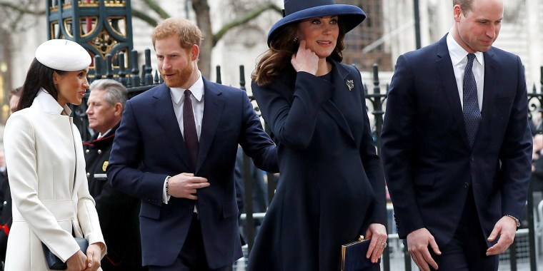 Britains Prince Harry His Fiancee Meghan Markle Prince William And Kate The Duchess Of Cambridge Arrive At The Commonwealth Service At Westminster