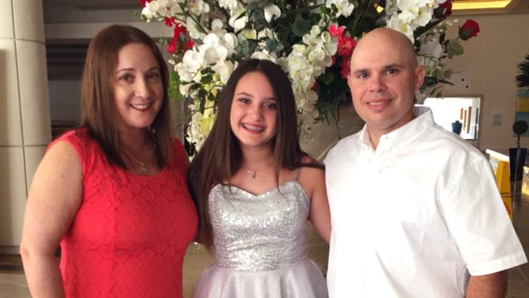 Parkland victim Alyssa Alhadeff with her parents.