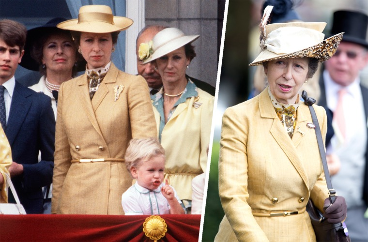 Princess Anne wears yellow coatdress more than once