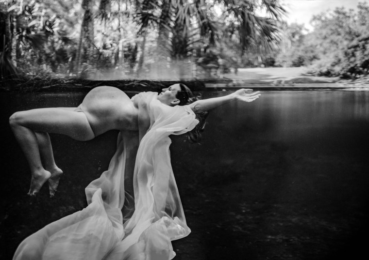 "Second place winner, maternity category and people's choice winner, maternity category: ""Staying Afloat"" by Melissa Benzel