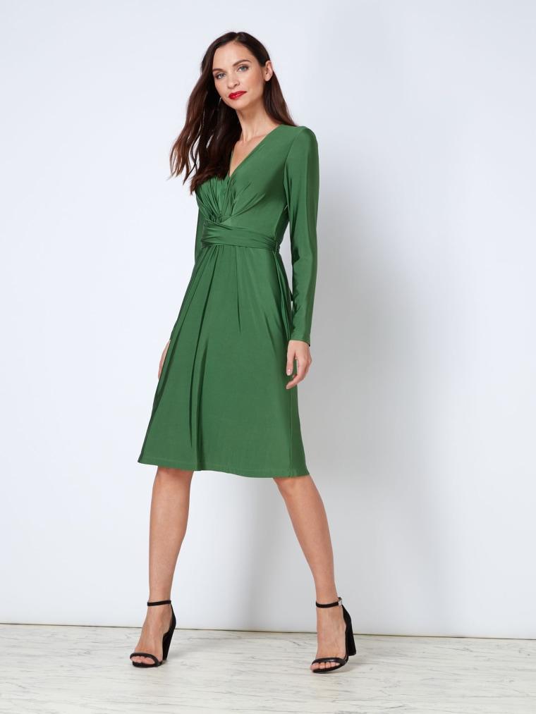 Kate Tie Wrap Dress in green
