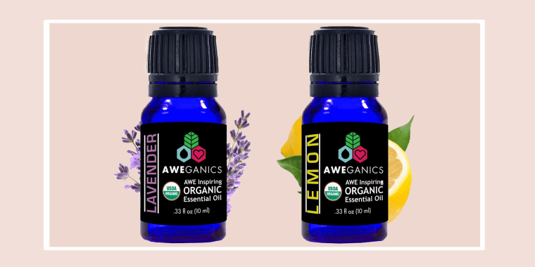 Aweganics Pure Lavender Oil USDA Organic Essential Oils, Undiluted Therapeutic-Grade 100% Pure and Natural, Best Aromatherapy Scented-Oils for Diffuser, Home, Office, Personal Use (10 ML)