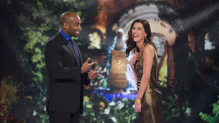 "Becca Kufrin and Darius on the ""Bachelor"" special ""After the Final Rose"""
