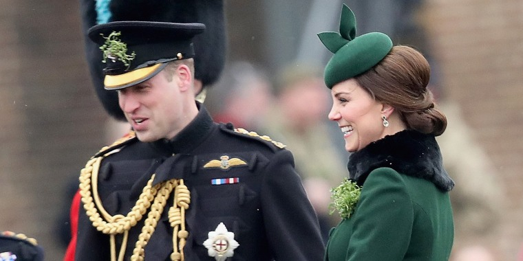 Image: The Duke And Duchess Of Cambridge Attend The Irish Guards St Patrick's Day Parade