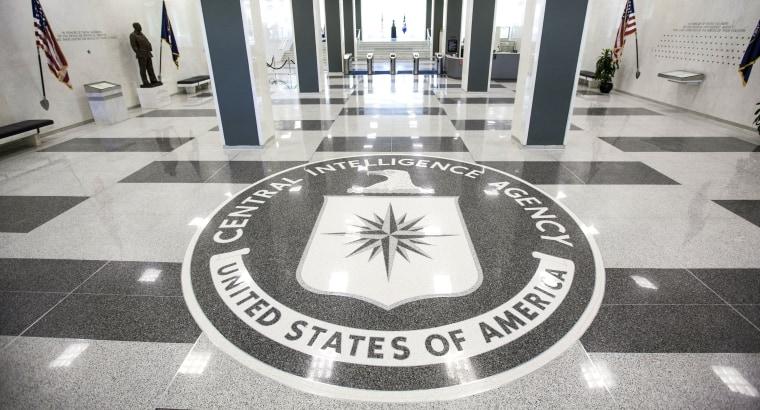 Image: The CIA headquarters entrance.