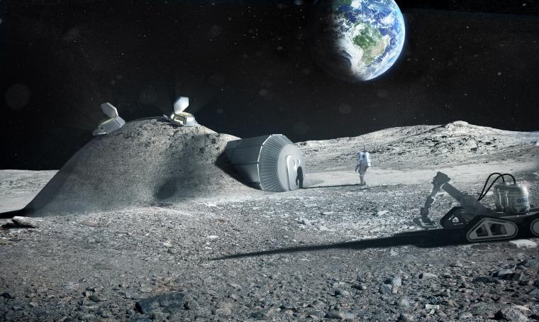 Image: 3D printed lunar base