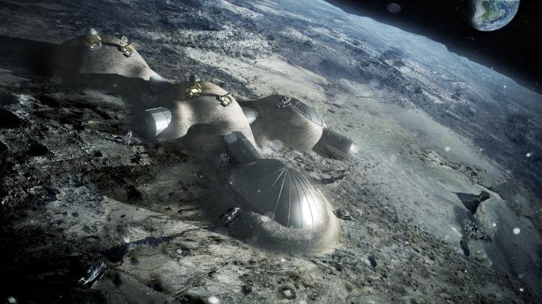 Image: Multi-dome lunar base