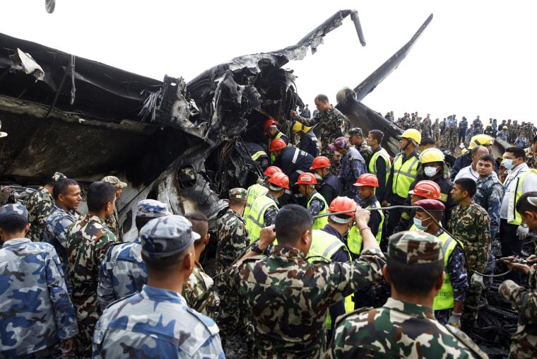 Image: Kathmandu airport plane crash