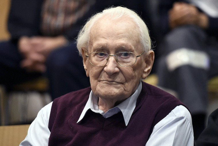 Image: 'Bookkeeper of Auschwitz' Oskar Groening has died