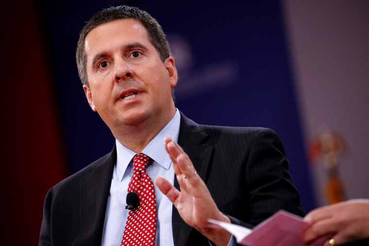 Image: House Intelligence Committee Chairman Devin Nunes (R-CA) speaks at the Conservative Political Action Conference (CPAC) at National Harbor, Maryland