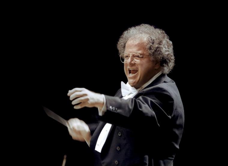 Image: Handout photo of MET musical director James Levine in Japan