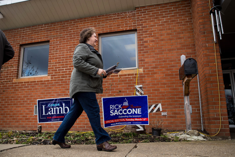 Image: Democratic Candidate In Pennsylvania's 18th District Conor Lamb Votes In Special Election
