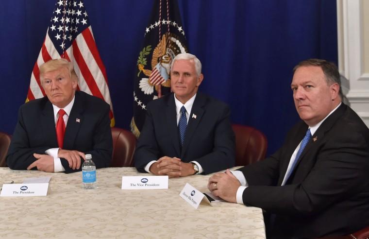 Image: Trump, Pence, Pompeo