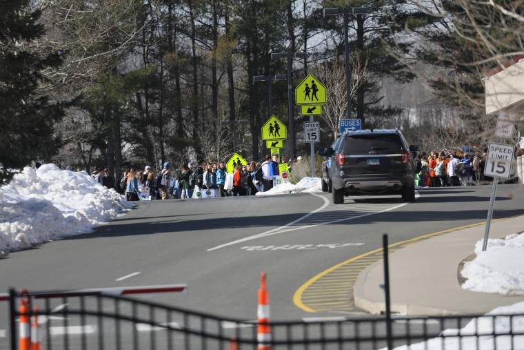 Image: Across U.S., Students Walk Out Of Schools To Address School Safety And Gun Violence