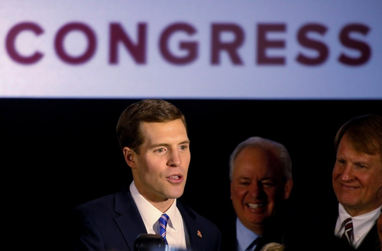 Image: Democratic congressional candidate Conor Lamb is greeted by supporters during his election night rally in Canonsburg, Pennsylvania