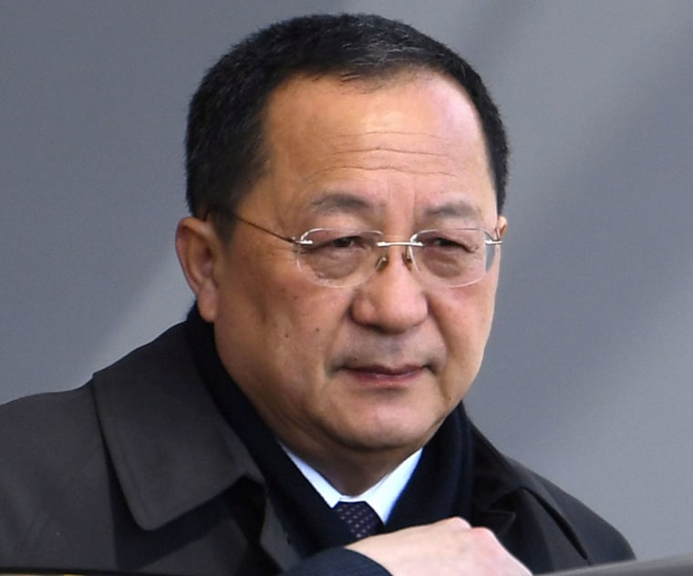 Image: North Korean Foreign Minister Ri Yong Ho