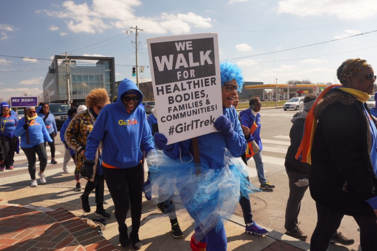 Women flew and drove in across the country to greet the group and walk the last mile.