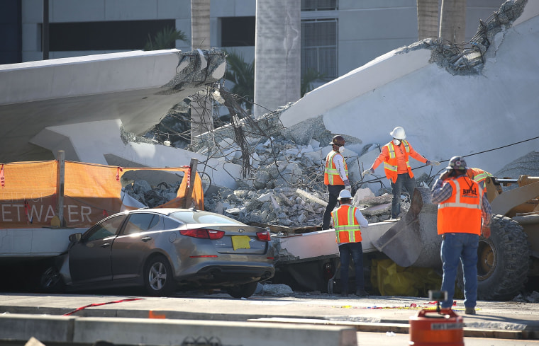 Image: At Least 4 Dead After Collapse Of Pedestrian Bridge In Miami