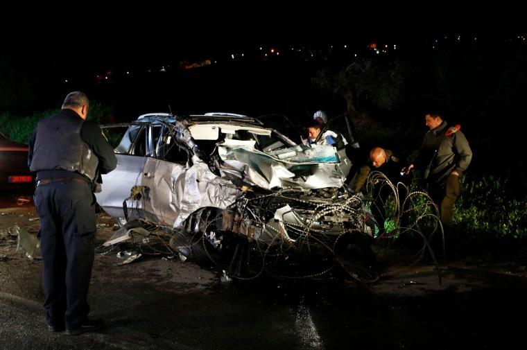 Image: West Bank car ramming