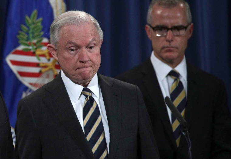Image: Jeff Sessions and Andrew McCabe