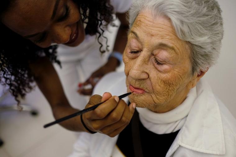 Image: A senior citizen receives a makeover