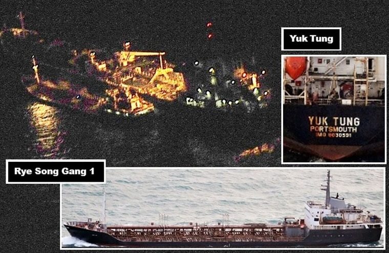 Image: Ship to Ship Transfer at Night