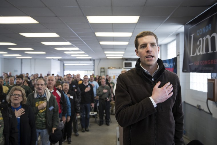 Image: Democratic Conor Lamb Campaigns For Pennsylvania's 18th Congressional District Special Election