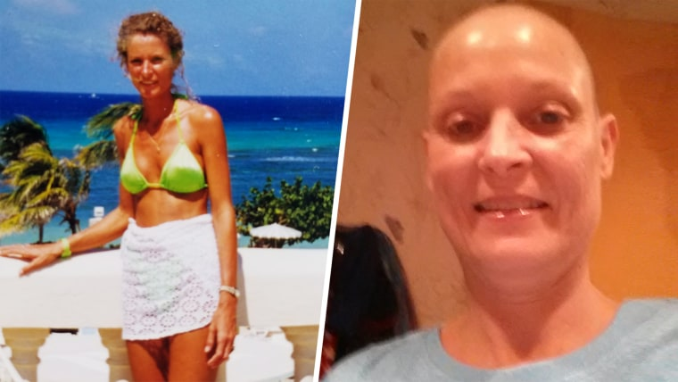 Stacey Boone, who developed a rare cancer linked to her breast implants.