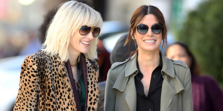 Sandra Bullock and Cate Blanchett on set of 'Ocean's Eight'