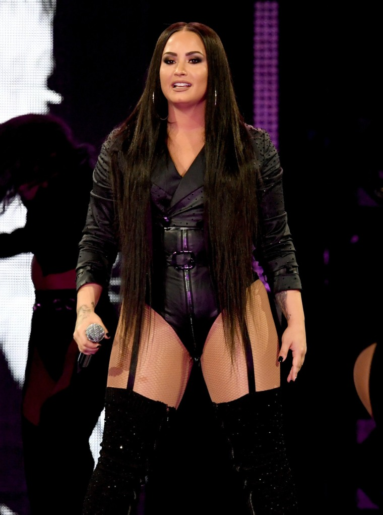 Image: Demi Lovato during a performance