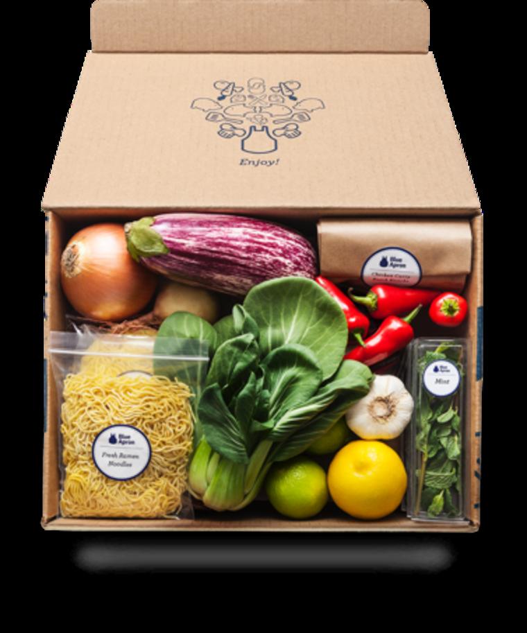 Blue Apron Meal Kit Box