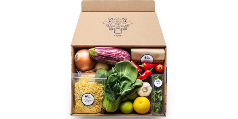 Blue Apron meal kit delivery box