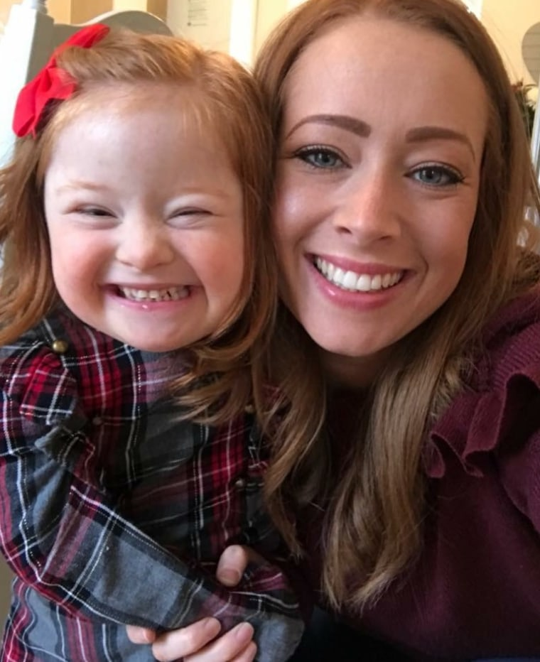 Tara Brookes with her 4-year-old daughter, Savannah.