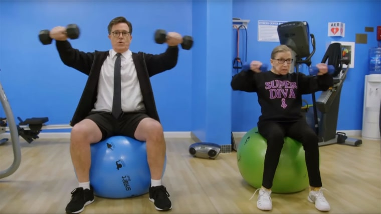 Stephen Colbert and Supreme Court Justice Ruth Bader Ginsburg had some weighty decisions to make.